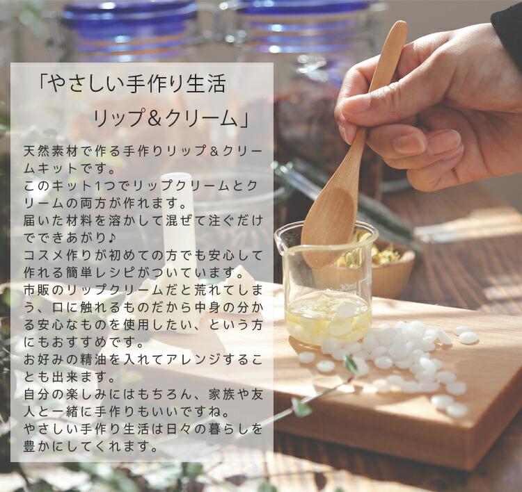 手作りリップ&クリームキット