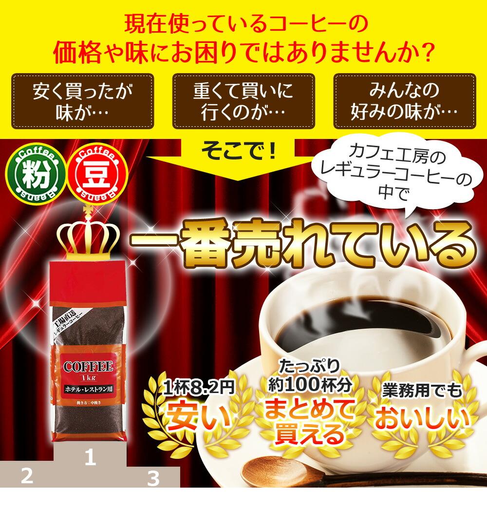 現在使っているコーヒーの価格や味にお困りではありませんか?安く買ったが味が・・・ 重くて階に行くのが・・・ みんなの好みの味が・・・