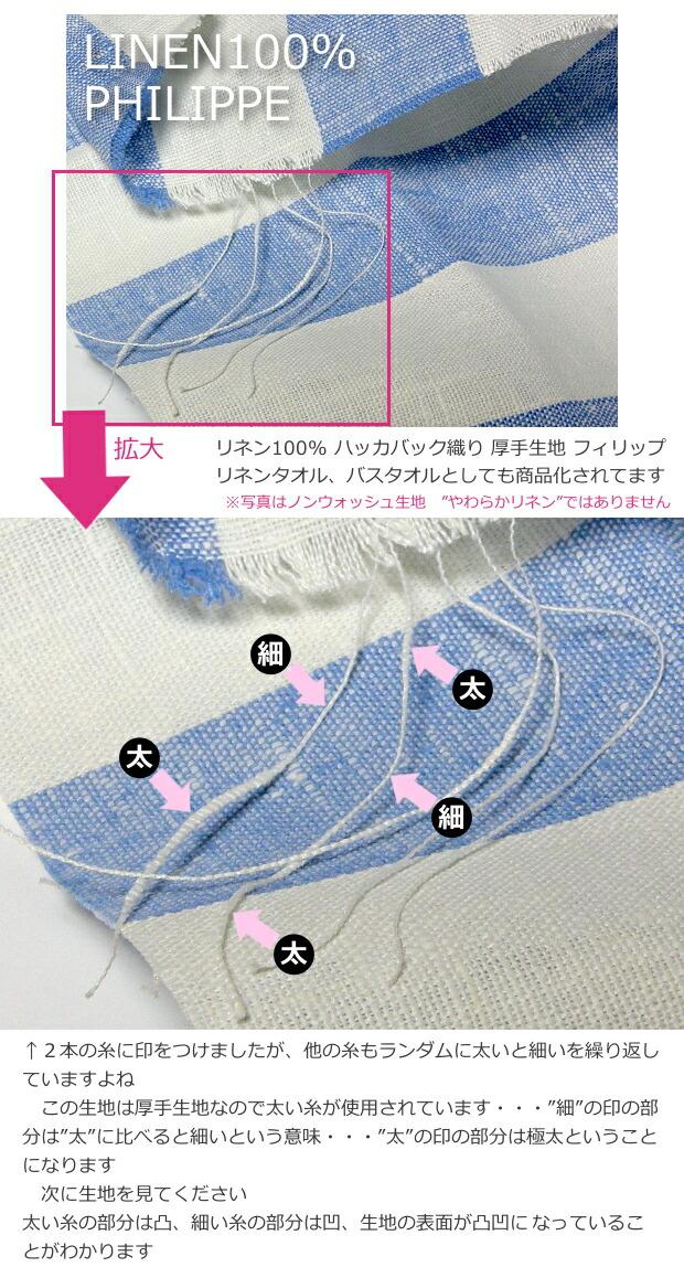 LinenMe(リネンミー)のリネン...ハッカバック織りとは?