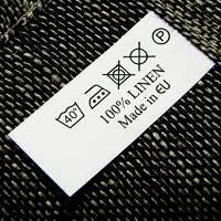 リネン洗濯表示 リトアニアタグ