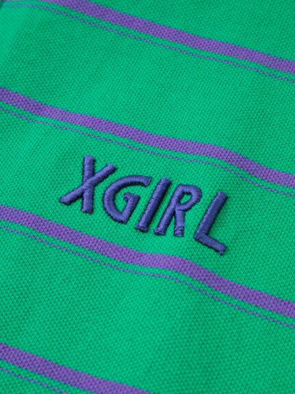 XGI01(エックスガール)通販|STRIPED PIQUE S/S TOP