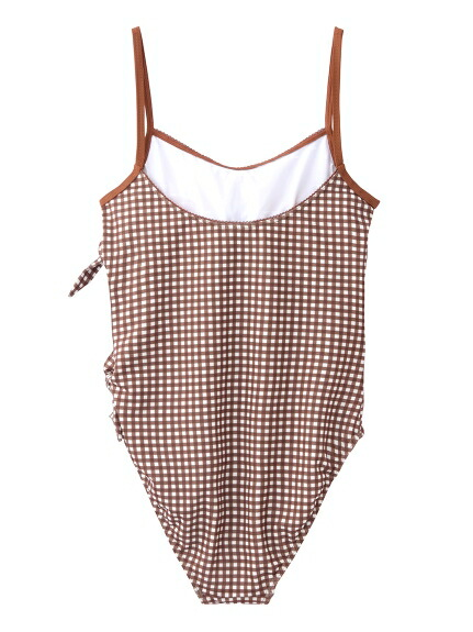 XGI01(エックスガール)通販 X-girl × ROXY GINGHAM PLAID ONE-PIECE SWIMSUIT