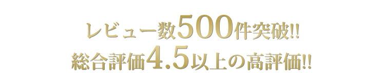 レビュー数500件突破!総合評価4.5以上の高評価