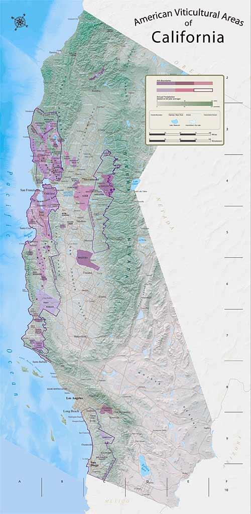 【産地から選ぶカリフォルニアワイン】 原産地呼称 Appellations