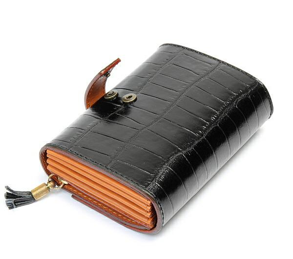 1539296203bd フェリージ/Felisi】 財布 ウォレット クロコ型押し イタリア製 高級牛革 ...