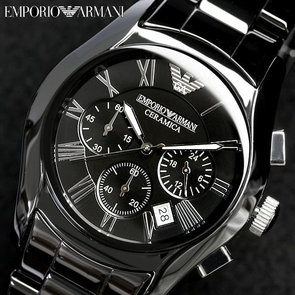 56ca6b785c EMPORIO ARMANI エンポリオアルマーニ クロノグラフ メンズ 腕時計 AR1400