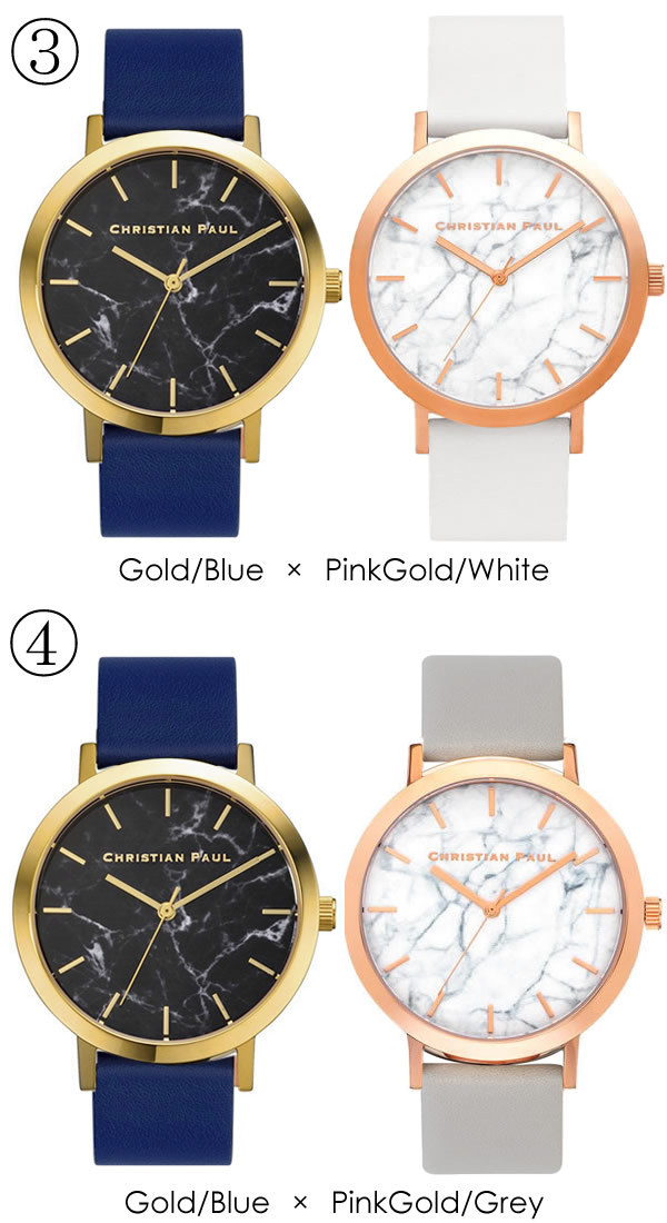 24d1d1da60 【Christian Paul】 クリスチャンポール ペアウォッチ ユニセックス腕時計CP-43MR