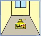 27立法メートル(3m×3m×3m:6畳)の部屋に5秒間噴霧する。