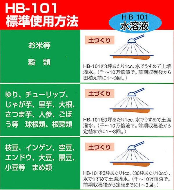 植物活力液・HB-101:標準使用方法