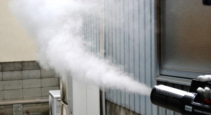 ハエ、蚊、ゴキブリ、ノミ、ダニ、ナンキンムシ駆除 煙霧も噴霧もできる ピレハイス油剤