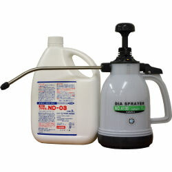臭いが少なく室内での散布に最適 フマキラーND-03と噴霧器セット