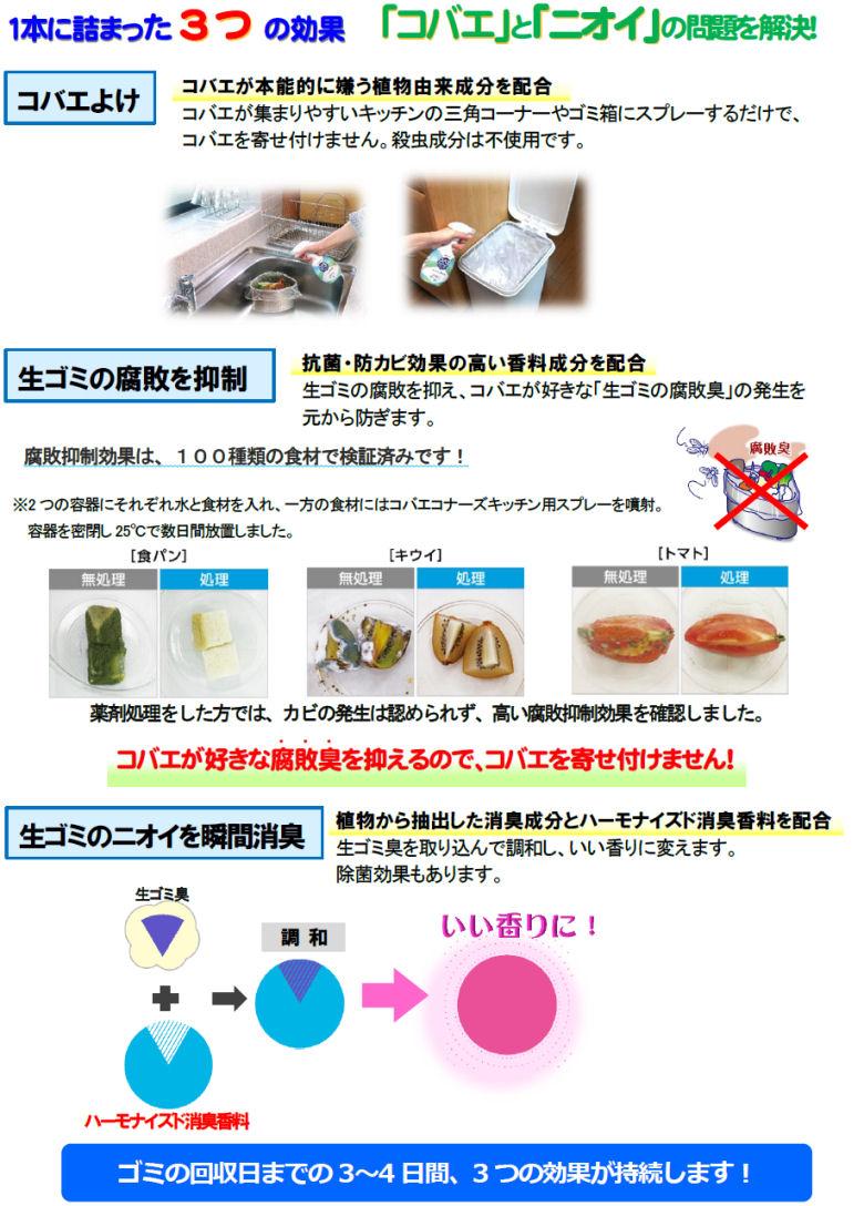 大日本除虫菊株式会社 コバエコナーズ キッチン用スプレー 腐敗抑制プラス