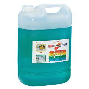 スー天ぷら油処理剤 油コックさんパーオレンジ 消臭・除菌泡タイプ 業務用 4L