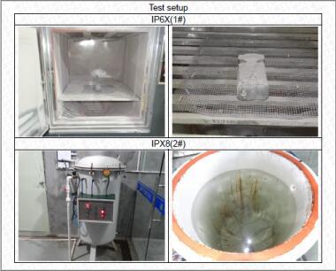 防滴防塵実験