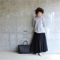 C 全円 マキシスカート ブラック
