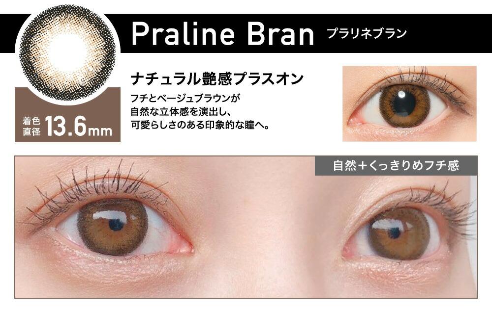 PralineBran(プラリネブラン) ナチュラル艶感プラスオン 着色直径13.6㎜