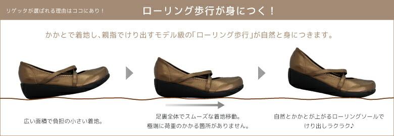 カヌーサンダル/ローリング歩行