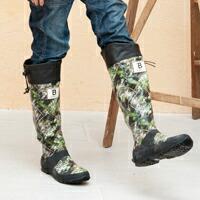 日本野鳥の会 長靴 カモフラ