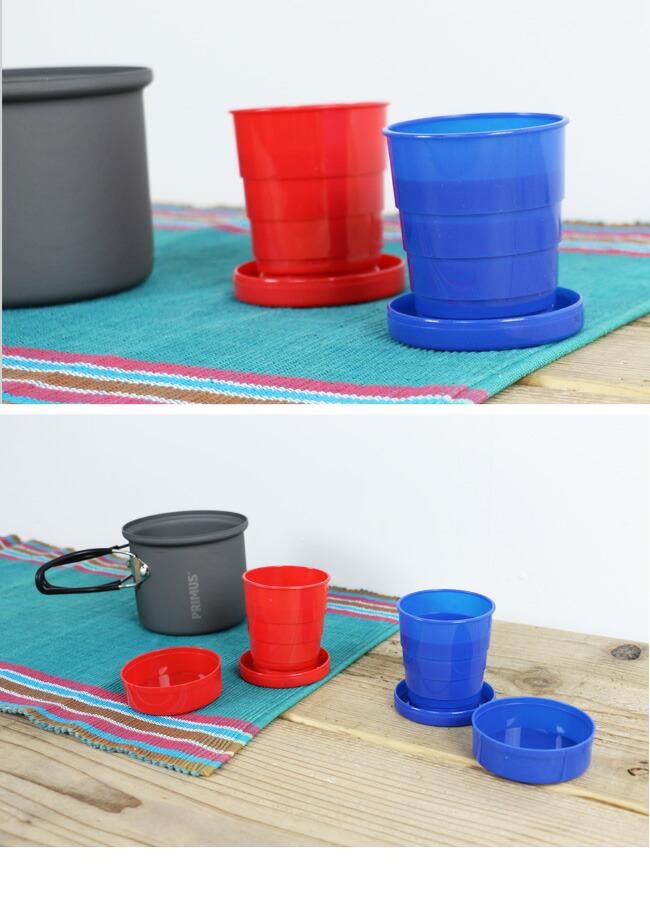 折りたためる便利なカップ、2個セットです。 キャンプや登山などのアウトドアシーンで使いやすい便利なカップ。 収納時はフタをしてコンパクトになるので、カバンやポケットにすっぽり。 必要な時に取り出して使えるので、アウトドアに最適です。 フタもカップやお皿のように使えます。