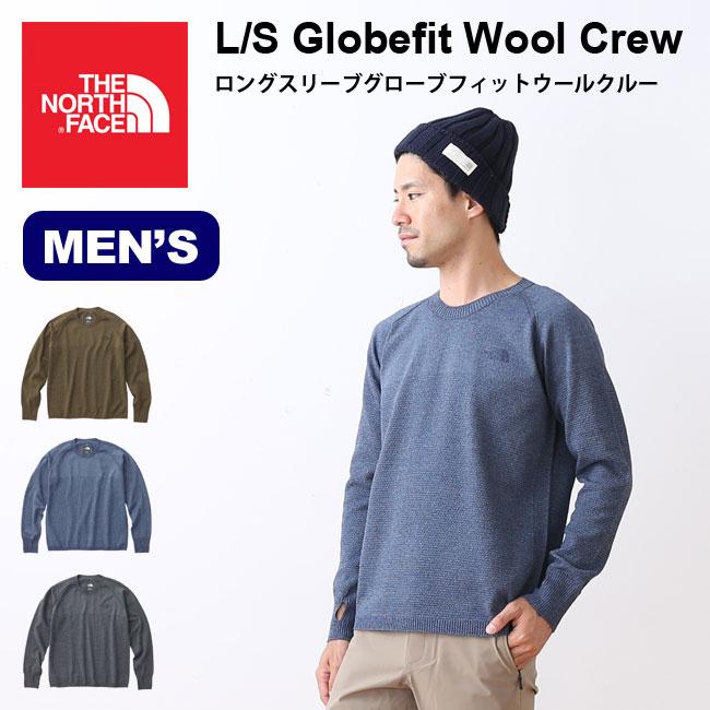 53881e5e0 ノースフェイス L/S グローブフィットウールクルー THE NORTH FACE L/S Globefit Wool Crew トップス  プルオーバー ニット ...