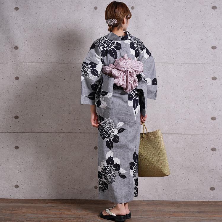 浴衣専門店カプリ楽天-高級変わり織り浴衣3点セット-綿100%