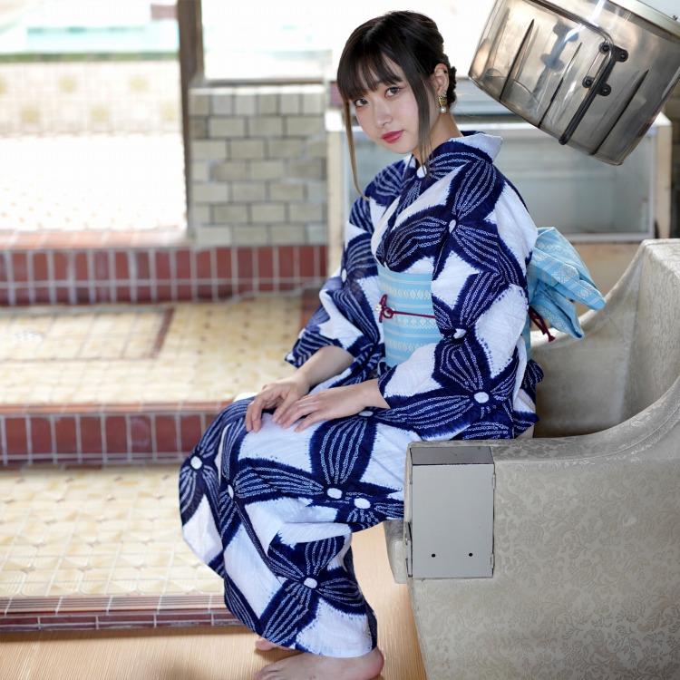 ●浴衣専門店カプリ楽天-高級変わり織り浴衣3点セット-レトロ・RETRO