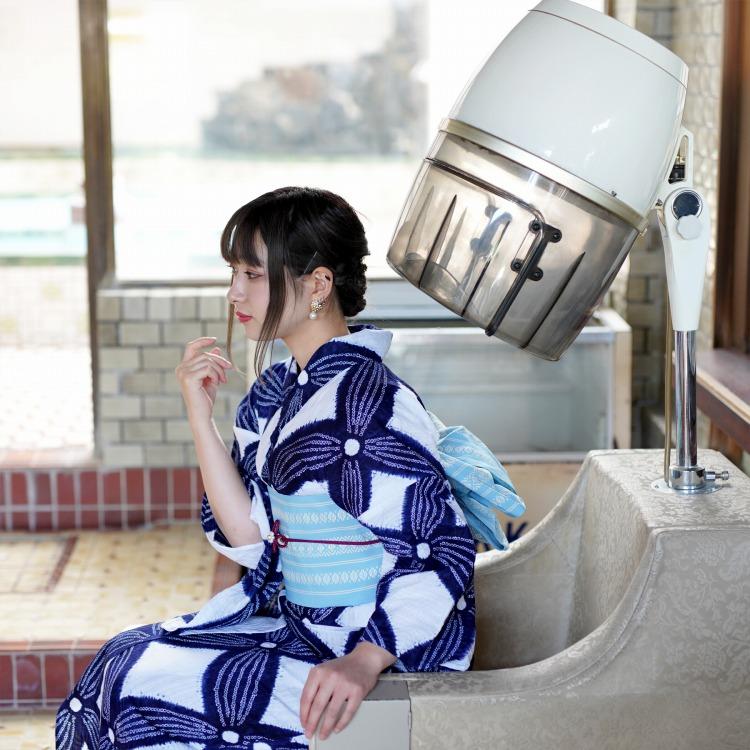 浴衣専門店カプリ楽天-高級変わり織り浴衣3点セット-レトロ・RETRO