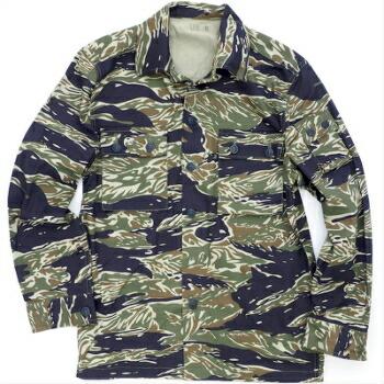 SESSLER(セスラー)Vietnam Tiger Stripe Jacket 3 Pocket Blue Tiger ベトナム タイガーストライプ ジャケット  [コットン100%][ブルータイガー]【中田商店】
