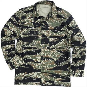 SESSLER(セスラー) Vietnam Tiger Stripe Jacket 3 Pocket Black Tiger ベトナム タイガーストライプ ジャケット [コットン100%][ブラックタイガー]【中田商店】