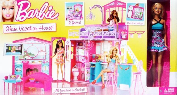 Caramelcafe Rakuten Global Market Dolls Amp Doll House Barbie Doll House With Furniture Glam