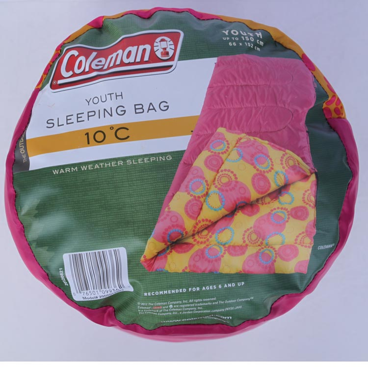 Country Of Origin China Coleman YOUTH SLEEPING BAG50Childrens Sleeping BagsYouth Bag Pink Modele2000012603Synonymous With In