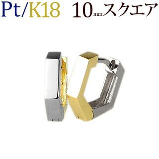 Pt/K18フープピアス