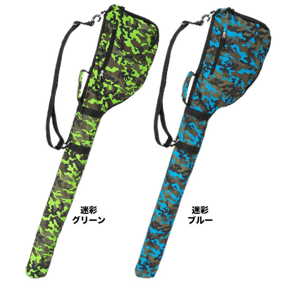迷彩グリーンと迷彩ブルーのゴルフバッグ商品画像