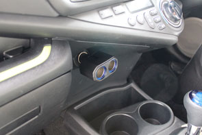 角度調整・LEDライト付きソケット2口(CT779)