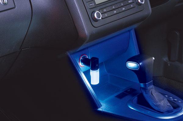 シガーソケットLEDランプ|カーメイトCZ330 LEDライト プラグ型 ブルー|車内 ライト|