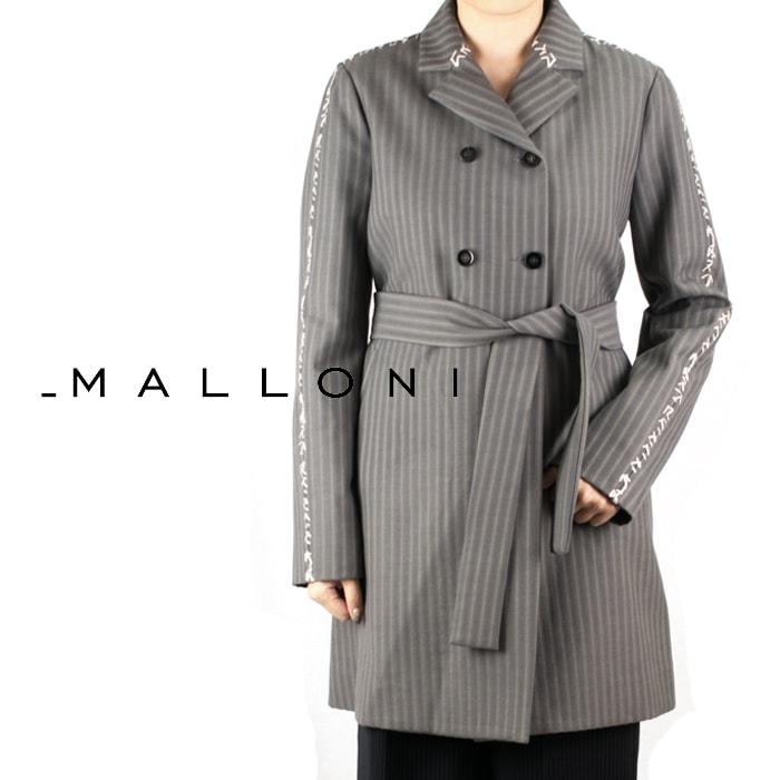 MALLONI[マローニ] ステッチストライプチェスターコート