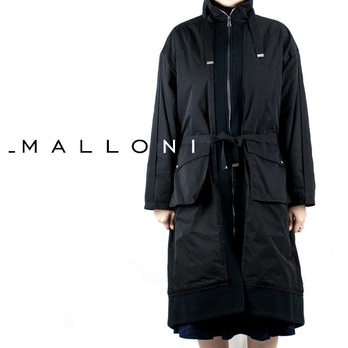 MALLONI[マローニ]オーバーサイズジップアップナイロンコート