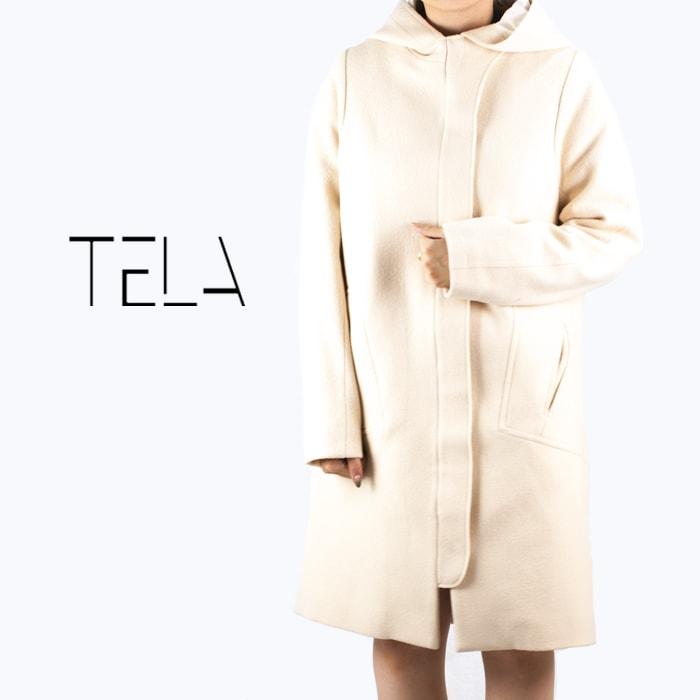 """TELA[テラ]フライフロントフードウールコート"""""""