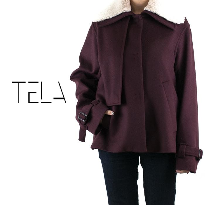 TELA[テラ]ボアカラーダブルショートウールジャケット