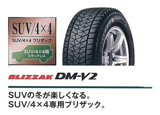 ブリヂストンDM-V2スタッドレスタイヤ