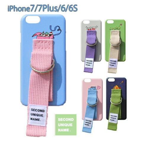 iPhone6S ケース 韓国 人気 ベルト 【SUN CASE】 【YOUNG BOYZ】 パステルカラーが可愛いベルト付きケース