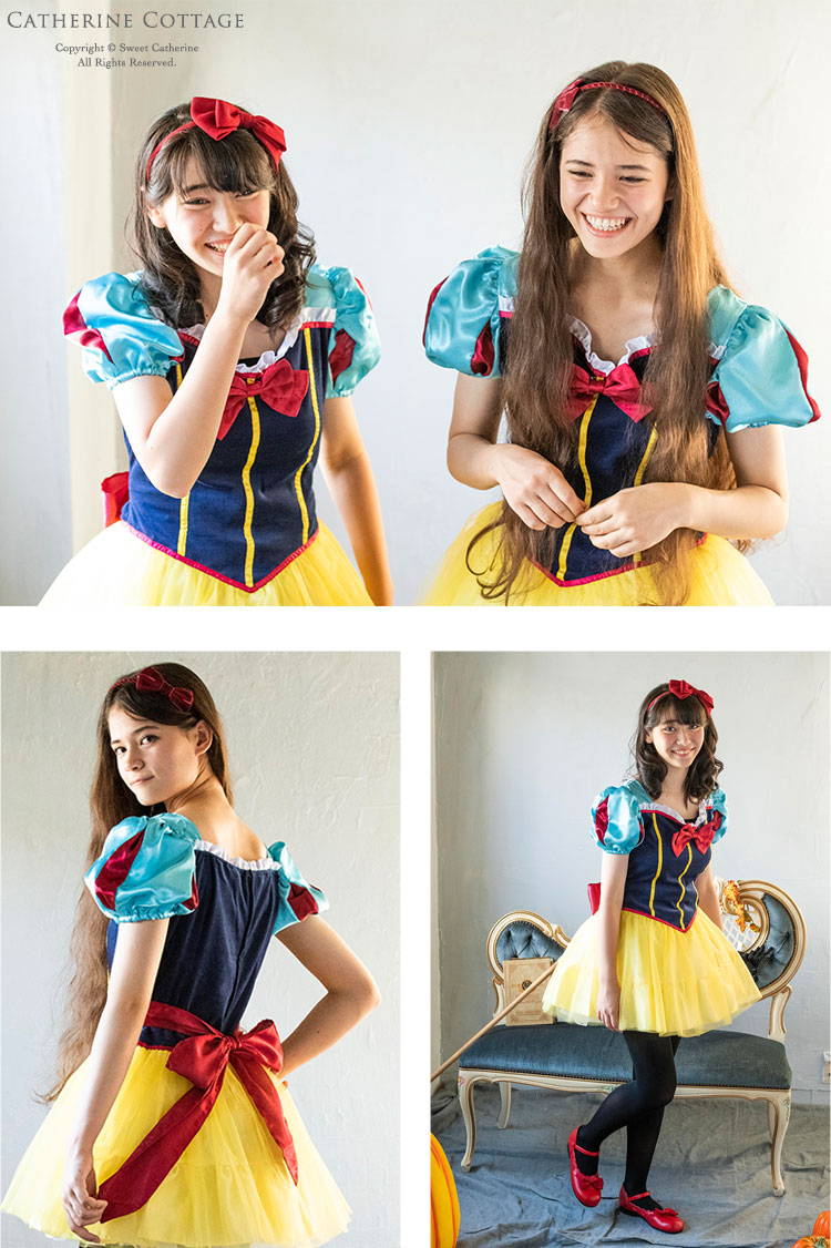 eac98b59b41ae 楽天市場 仮装 衣装 ジュニア・レディース用コスチューム 白雪姫風 ...