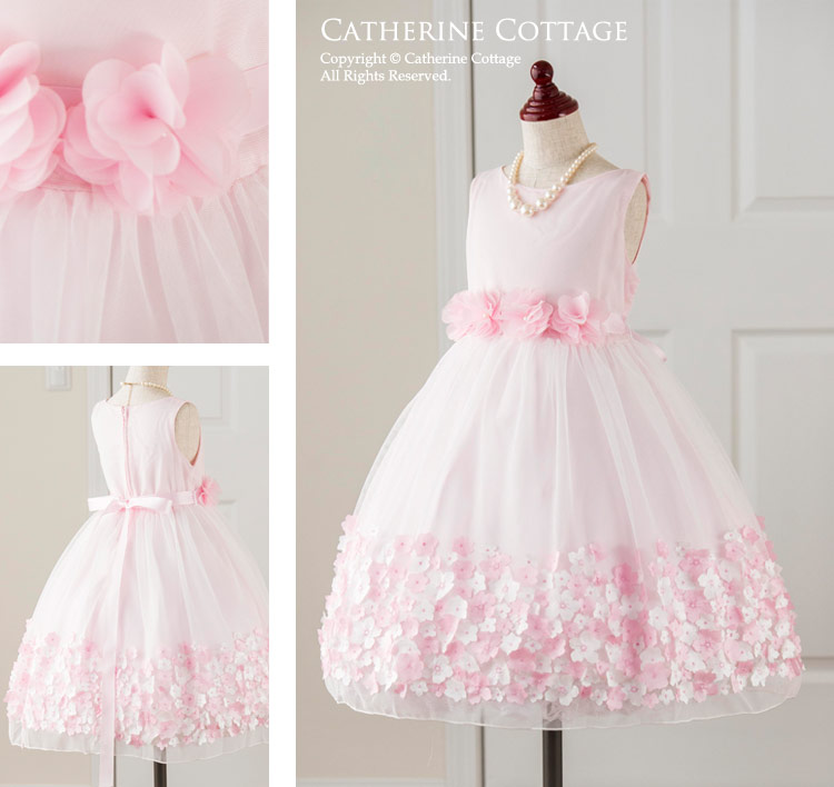 子どもドレス 子供服 キッズ フォーマル 発表会 結婚式 春 通販 人気 キャサリンコテージ ピンク さくら 桜