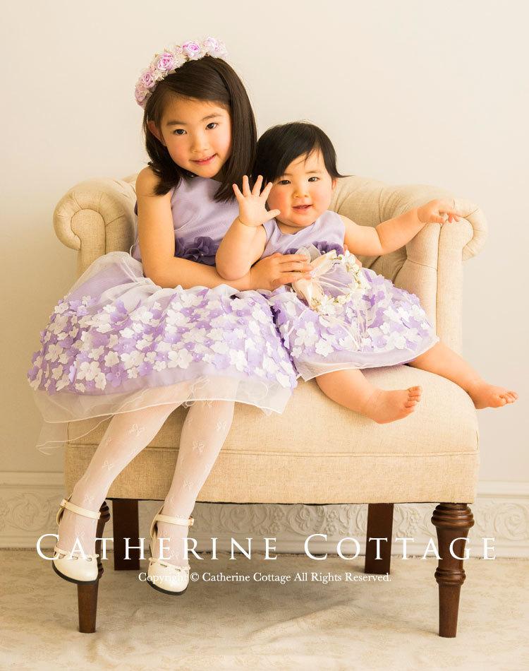 子供服 子供ドレス キッズドレス ベビードレス 赤ちゃん 春 フォーマル 記念撮影 紫 ピンク イエロー 黄色 ブルー 青