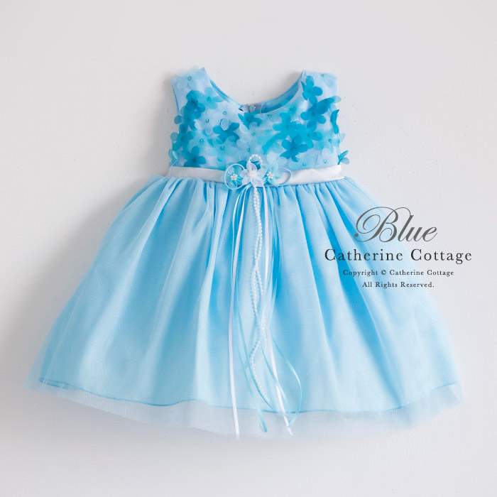 ブルー キッズドレス 発表会 ベビードレス 子供フォーマルドレス