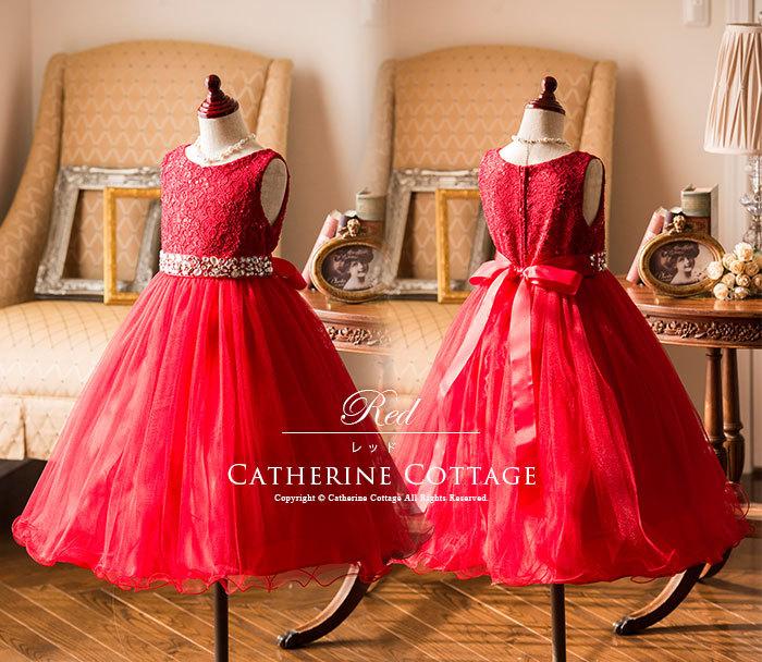 キッズドレス 赤