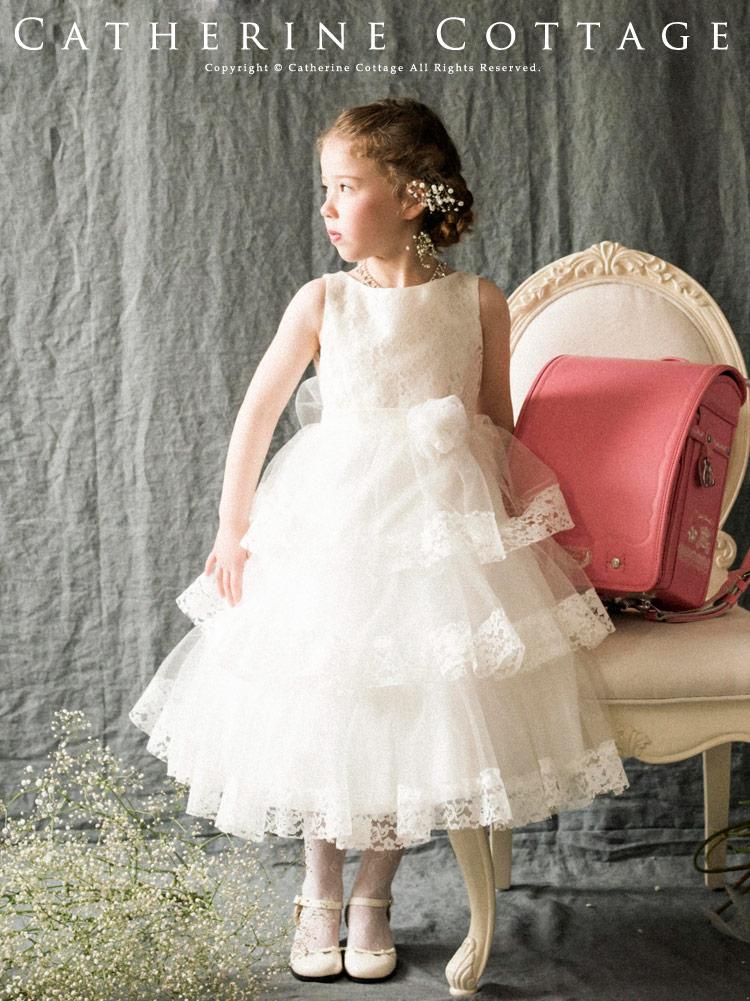 993f237f58fe4 楽天市場 パーティードレス 女の子 子供ドレスお花レースと三段チュール ...