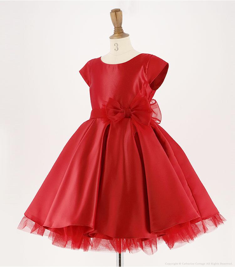 赤いキッズドレス