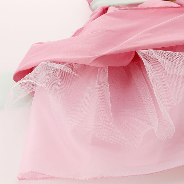 キッズドレス ノースリーブ 袖なし コサージュ 総柄 赤 黒 水色 グレー ピンク