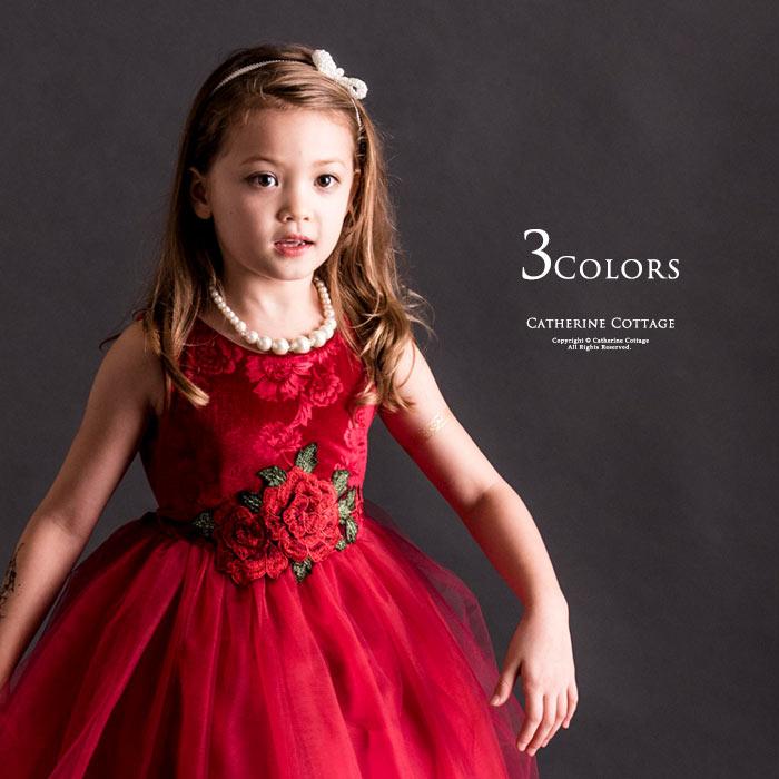 子供ドレス 赤 通販